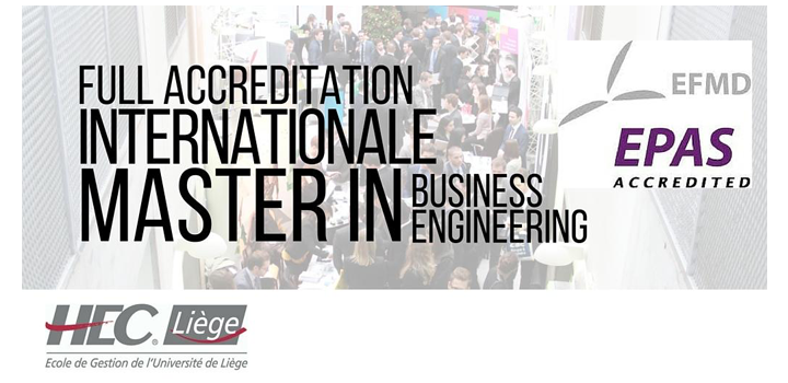 Full accréditation EPAS pour le Master Ingénieur de Gestion